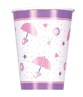 SALE! 8 PCS 9 OZ CUPS - RAINBOW SHOWER (48 PCS) PF-10300
