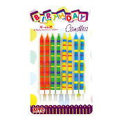 8 FIESTA CANDLES IN HOLDER (24 PCS) PF-6635