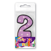 "2.5"" DOT #2 CANDLE (24 PCS) PF-6241"