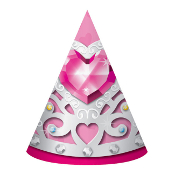 BIRTHDAY PRINCESS - 8 PARTY HATS (24 PACKS) PF-27132