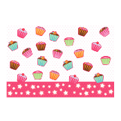 "CUPCAKES - 54"" X 72"" TABLECOVER (24 PACKS) PF-24003"