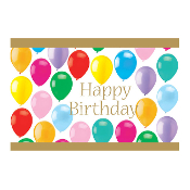 "COLORFUL BALLOONS - 54"" X 72"" TABLECOVER (24 PACKS) PF-22803"