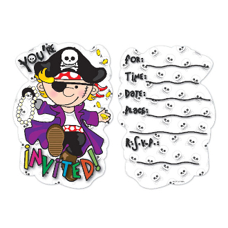 SALE! PIRATE - 8 PCS INVITATIONS (48 PACKS) PF-25640