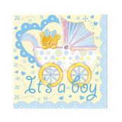 BABY BOY IN A TROLLEY - 16 PCS NAPKINS (24 PACKS) PF-18602