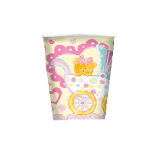 BABY GIRL IN A TROLLEY - 8 PCS 10 OZ CUPS (24 PACKS) PF-18700