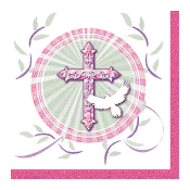 BLESSED OCCASIONS PINK - 16 NAPKIN (24 PACKS) PF-25202