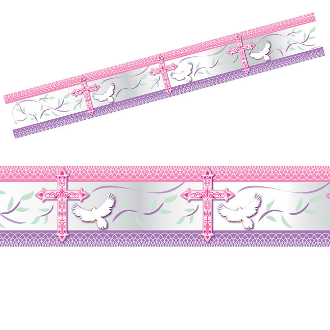 BLESSED OCCASIONS PINK - 12 FT. FOIL BANNER (24 PACKS) PF-25265