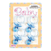 "4 PCS 2.25"" CRYSTAL PACIFIERS BLUE (24 PCS) PF-1441"
