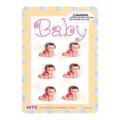 "6 PCS 1"" BABIES WITH MILK BOTTLE PINK (24 PCS) PF-1446"