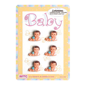 "6 PCS 1"" BABIES WITH MILK BOTTLE BLUE (24 PCS) PF-1447"