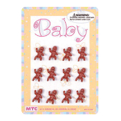 "12 PCS 1"" BABIES BROWN (24 PCS) PF-1641"