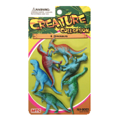 6 PCS DINOSAURS - 3 ASSORTMENT (24 PCS) NV-0003