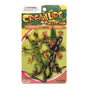 4 PCS LIZARDS - 2 ASSORTMENT (24 PCS) NV-0005