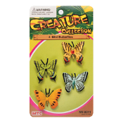 4 PCS MINI BUTTERFLIES - 3 ASSORTMENT (24 PCS) NV-0011