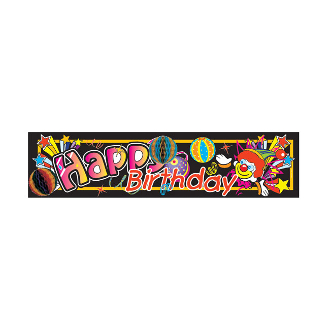 "8.5"" X 32"" LASER TISSUE BANNER - CLOWNS (24 PACKS) PF-8364"