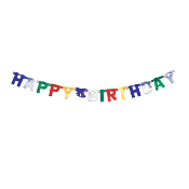 LETTER BANNERS - HAPPY BIRTHDAY FOIL (24 PACKS) PF-8035