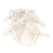 "4 PCS 3""W X 4""H ORGANZA POUCHES - WHITE (24 PACKS) PF-7338"