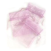 "3 PCS 5""W X 6.5""H ORGANZA POUCHES - LAVENDER (24 PACKS) PF-7333"
