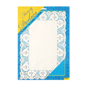 "10 PCS 14.5""X10"" WHITE RECTANGLE DOILIES (24 PACKS) PF-8563"