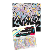 2/3 OZ 2-PACK CONFETTI BABY SHOWER (24PACKS) PF-8807