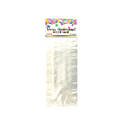 "40 PCS CLEAR CELLO BAGS 4""W X 9""L X 2""D (24 PACKS) PF-8532"