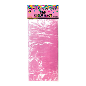 "25 PCS PINK CELLO BAGS 5""W X 11.5""L X 3""D (24 PACKS) PF-6750"