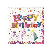 BIRTHDAY DELIGHT - 16 LUNCHEON NAPKINS (24 PACKS) PF-4802