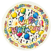 "BIRTHDAY BASH - 8 PCS 9"" PLATES (24 PACKS) PF-5804"