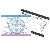 BLESSED OCCASIONS BLUE - 8 INVITATIONS (24 PACKS) PF-25140