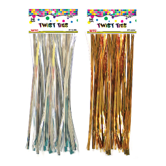 "60 PCS 7.25"" TWIST TIES ASSORTED (24 PACKS) PF-6862"