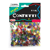1 OZ METALLIC STARS MULTI COLOR CONFETTI (24PACKS) PF-6761