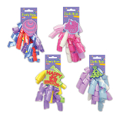 HAPPY BIRTHDAY CURLY BOW W/ TAGS ASSORTED (24 PACKS) PF-6857