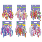 2 PCS IRIDESCENT CURLY BOWS ASSORTED (24 PACKS) PF-6856