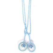 "2 PCS 30"" BABY NECKLACE W/ RATTLE BLUE (24 PCS) PF-1590"