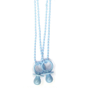 "2 PCS 30"" BABY NECKLACE W/ PACIFIER BLUE (24 PCS) PF-1592"