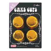 "45 PCS 3"" GOLD CAKE CUPS (24 PACKS) PF-8745"