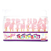 BIRTHDAY PRINCESS PICK CANDLES (12 PCS) PF-6694
