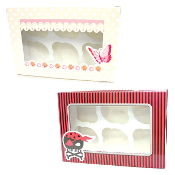 CUPCAKE BOX FOR 6 ASSORTED (24 PACKS) PF-6843