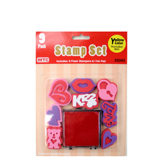 SALE! VALENTINE STAMPER SET (36 PACKS) 33343