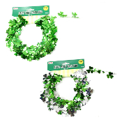 SALE! 25' ST PATRICK'S DAY WIRE GARLAND ASSORTED (48 PCS) 33254