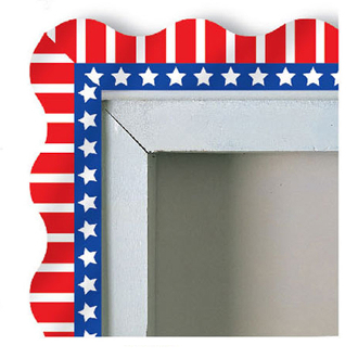 "SALE! 12 PCS 37"" PATRIOTIC BORDER TRIMS (48 PCS) PF-7255"