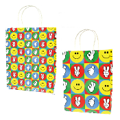 SALE! 144 PCS SIGNS MEDIUM KRAFT GIFT BAGS ASSORTED PF-2234