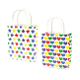 SALE! 144 PCS HEARTS & STRIPES MINI KRAFT GIFT BAGS PF-2241