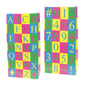 10 PCS LETTERS & NUMBERS PAPER SACKS (24 PACKS) PF-2125