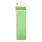 20 PCS POLKADOT PAPER STRAWS - GREEN (24 PACKS) PF-2092