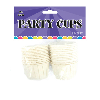"24 PCS 1.5""W X 1.5""H PARTY & NUT CUP (24 PACKS) PF-2137"