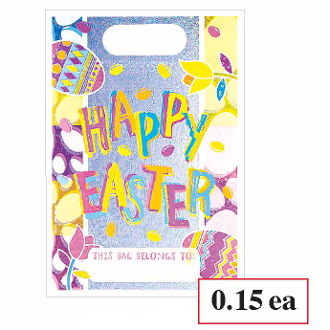 SALE! 8 PCS HAPPY EASTER LOOT BAG (48 PACKS) PF-13964