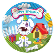 "SALE! GROOVY DOG - 8 PCS 7"" PLATE (24 PACKS) PF-25501"