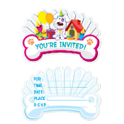 SALE! GROOVY DOG - 8 PCS INVITATIONS (24 PACKS) PF-25540