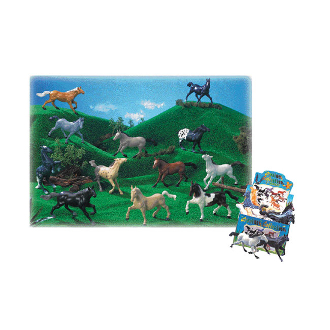 "8"" HORSES - 12 ASSORTMENT (48 PCS) 33282"